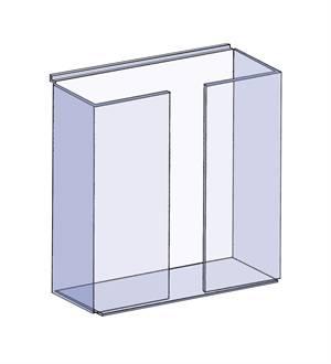 MA-41 Slatwall Leaflet Dispenser